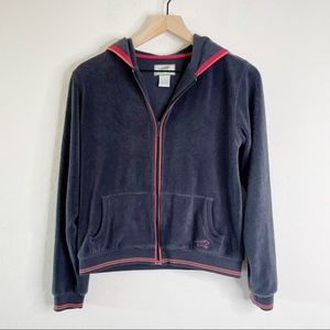 HORNY TOAD Fleece Gray Zip Up Jacket
